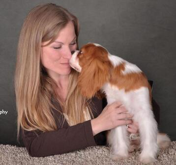 Picture Heather and cavalier puppy